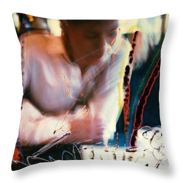 Sandy Throw Pillow by JC Armbruster