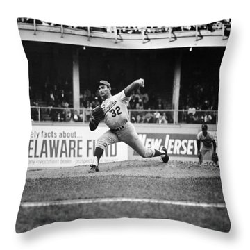 Sandy Koufax (1935- ) Throw Pillow