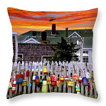 Sandy Neck Sunset Throw Pillow