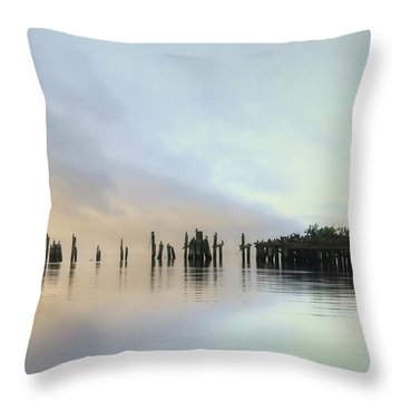 Throw Pillow featuring the photograph Sandy Point Reflections by Lori Deiter