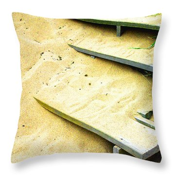 Sandy  Steps Throw Pillow