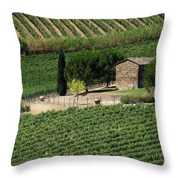 Sangiovese Vineyard Throw Pillow