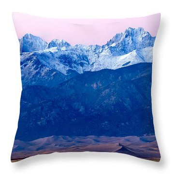 Sangre De Christo And The Great Sand Dunes National Park Throw Pillow