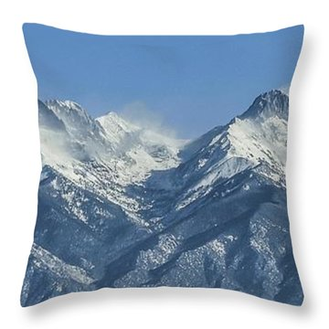 Sangre De Cristo Fourteeners Throw Pillow