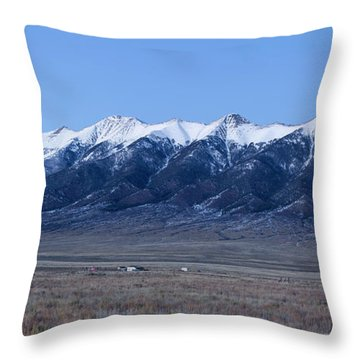 Sangre De Cristo Mountains In Evening Throw Pillow