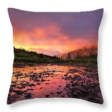 Sangre De Cristo Sunset   Throw Pillow