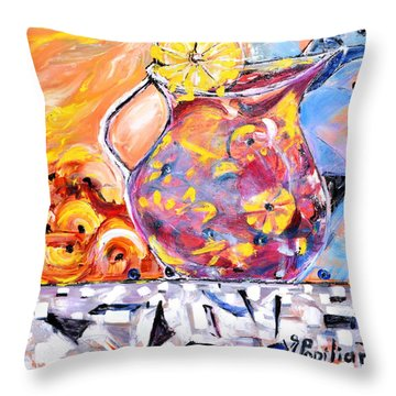 Sangria  Throw Pillow by Evelina Popilian