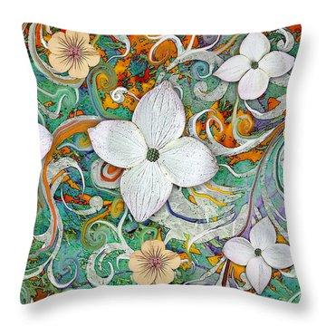 Sangria Flora Throw Pillow