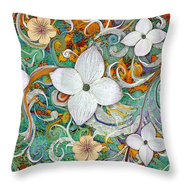 Sangria Flora Throw Pillow