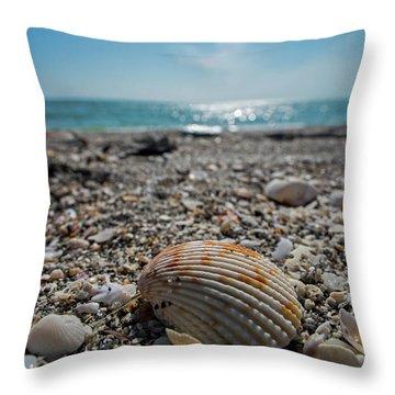 Sanibel Island Sea Shell Fort Myers Florida Throw Pillow