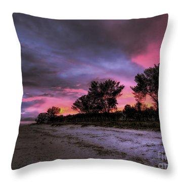 Sanibel Island Twilight Throw Pillow
