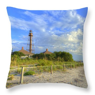 Sanibel Light House Throw Pillow