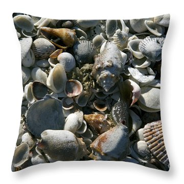 Throw Pillow featuring the photograph Sanibel Shells by Sandy Molinaro