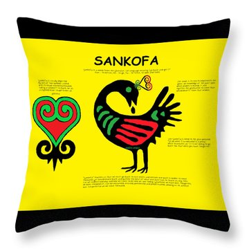Sankofa Knowledge Throw Pillow