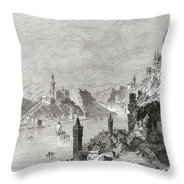 Sankt Goar And The Burg Rheinfels Throw Pillow