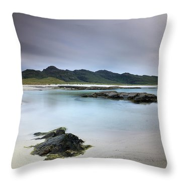 Throw Pillow featuring the photograph Sanna Bay by Grant Glendinning