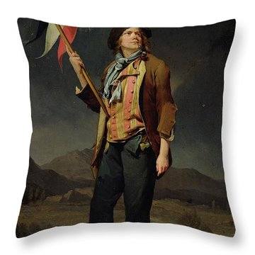 Sans Culotte Throw Pillow by Louis Leopold Boilly