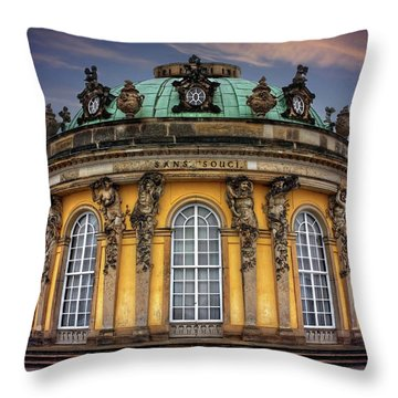 Throw Pillow featuring the photograph Sanssouci Palace In Potsdam Germany  by Carol Japp