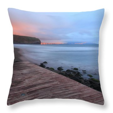 Santa Barbara Beach Throw Pillow by Gaspar Avila