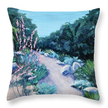Santa Barbara Botanical Gardens Throw Pillow by M Schaefer