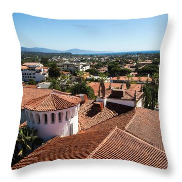 Santa Barbara From Above Throw Pillow