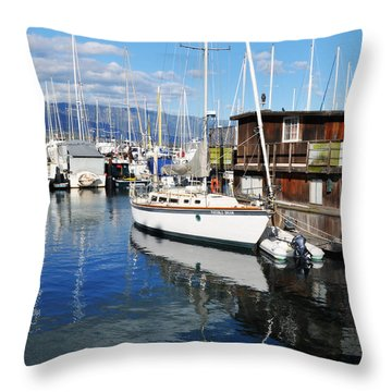 Throw Pillow featuring the photograph Santa Barbara Harbor by Kyle Hanson