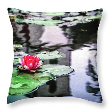 Throw Pillow featuring the photograph Santa Barbara Lily by Samuel M Purvis III