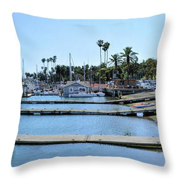 Santa Barbara Marina Throw Pillow