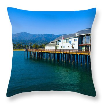 Throw Pillow featuring the photograph Santa Barbara Pier by Dany Lison
