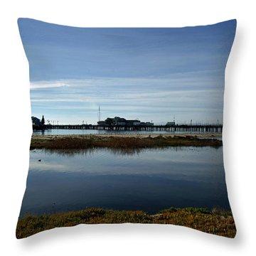 Santa Barbara Pier Throw Pillow