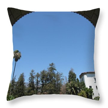 Santa Barbara Sky Throw Pillow by Karen Sydney