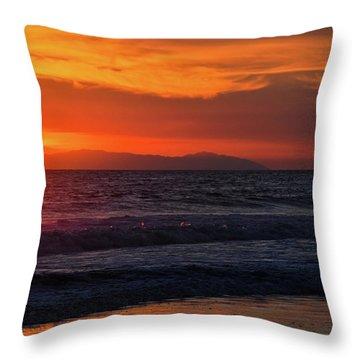 Santa Catalina Island Sunset Throw Pillow