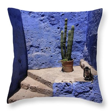 Throw Pillow featuring the photograph Santa Catalina Monastery by Aidan Moran