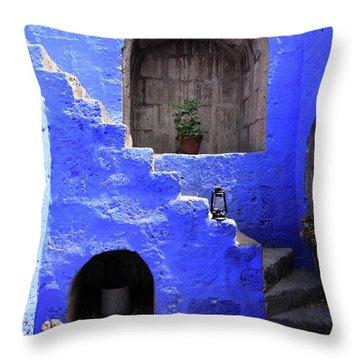 Throw Pillow featuring the photograph Santa Catalina Monastery, Arequipa, Peru by Aidan Moran