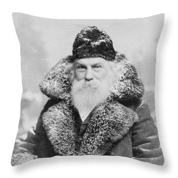 Santa Claus Throw Pillow by David Bridburg