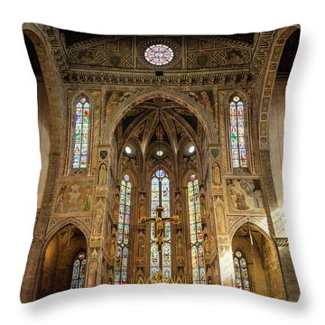 Throw Pillow featuring the photograph Santa Croce Florence Italy by Joan Carroll