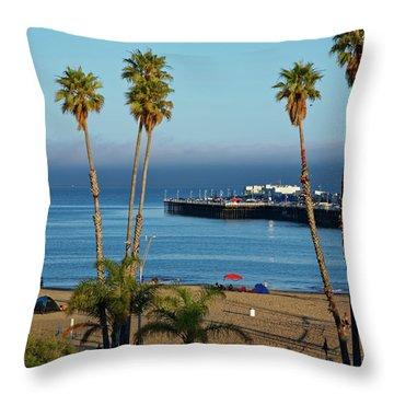 Santa Cruz Beach Throw Pillow