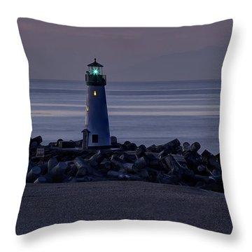 Walton Lighthouse Early Morning Throw Pillow