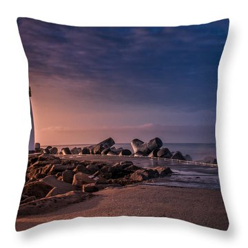 Santa Cruz Harbor Walton Lighthouse Throw Pillow