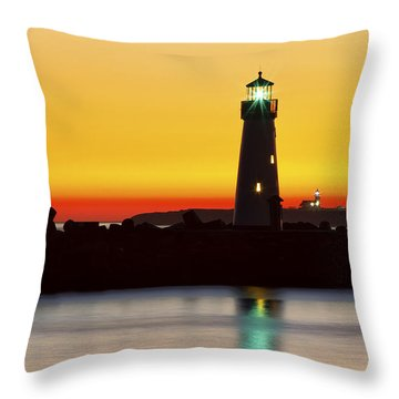 Santa Cruz Lighthouses Throw Pillow