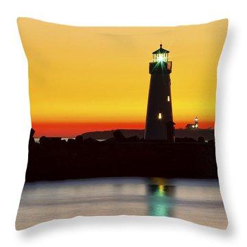 Santa Cruz Lighthouses Throw Pillow