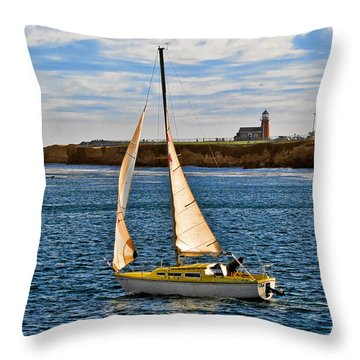 Santa Cruz Mark Abbott Memorial Lighthouse Ca  Throw Pillow by Christine Till