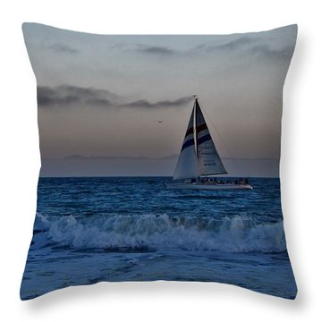 Santa Cruz Sail Throw Pillow