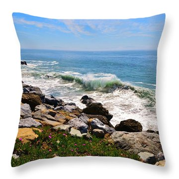 Santa Cruz Surf Throw Pillow