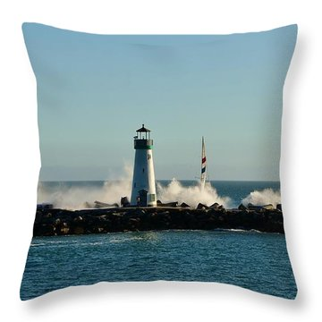 Santa Cruz Walton Lighthouse Throw Pillow