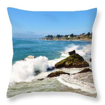 Santa Cruz Wave Spray Throw Pillow