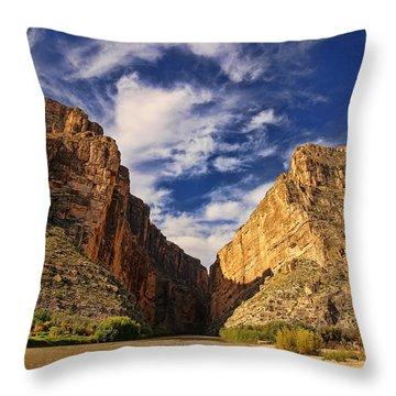 Santa Elena Canyon 3 Throw Pillow