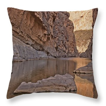 Santa Elena Canyon Throw Pillow