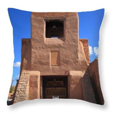Santa Fe - San Miguel Chapel Throw Pillow by Frank Romeo