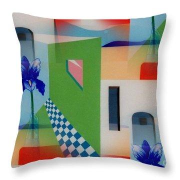 Santa Fe Adobe - #1 Throw Pillow